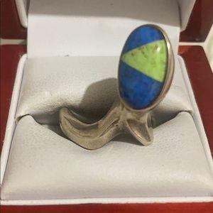 Sterling silver lapis lazuli handmade ring